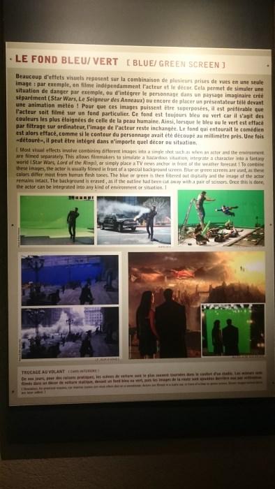 Musée miniature et cinéma de Lyon - Explication sur le fond vert