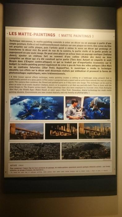 Musée miniature et cinéma de Lyon - Explication sur les Matte paintings