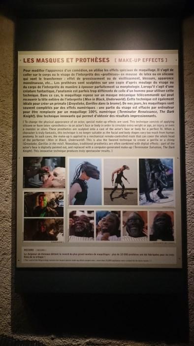Musée miniature et cinéma de Lyon - Explication sur les masques et prothèses