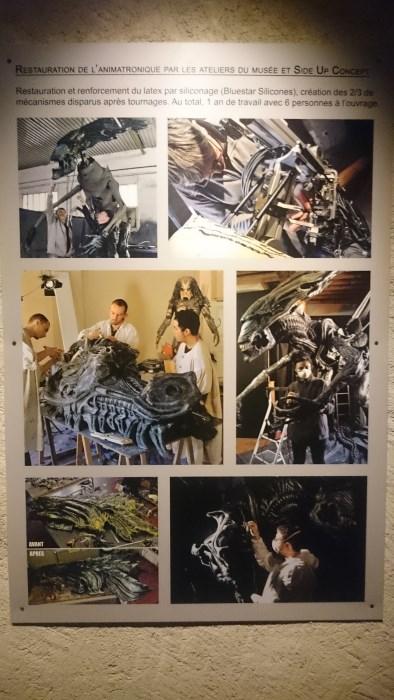 Musée miniature et cinéma de Lyon - Explications sur la restauration de la reine Alien