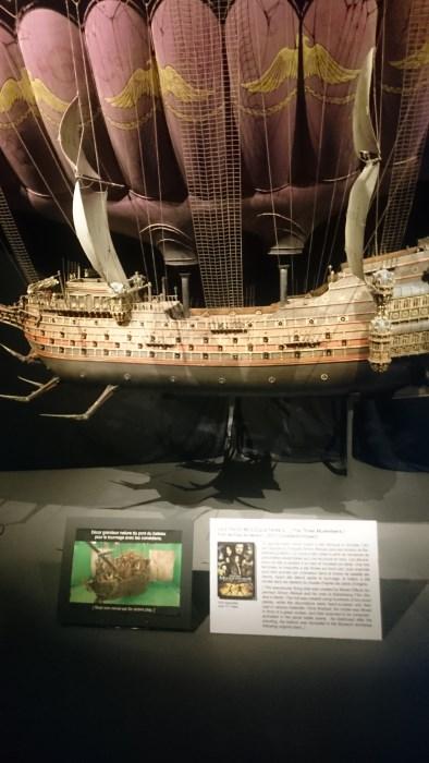 Musée miniature et cinéma de Lyon - Maquette du navire volant du film Les trois mousquetaires