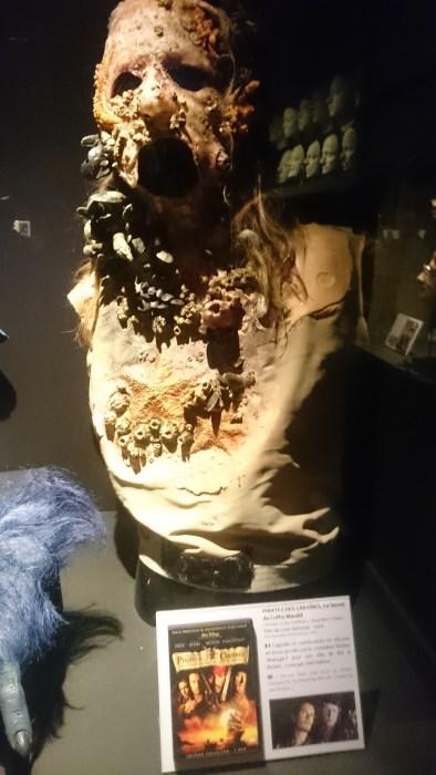 Musée miniature et cinéma de Lyon - Masque-prothèse de Bill le Bottier dans Pirates des Caraïbes