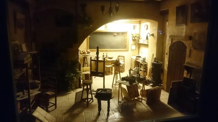 Musée miniature et cinéma de Lyon - Miniature d'atelier de peintre
