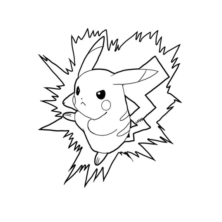 Coloriage Pokemon à imprimer - Pikachu