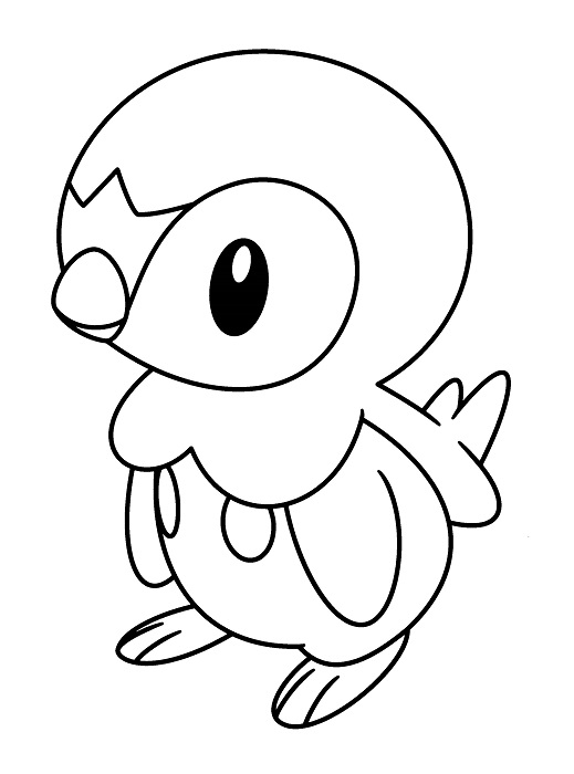 Coloriage Pokemon - Coloriage Tiplouf