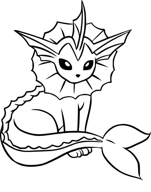 Coloriage Pokemon - Coloriage d'Aquali