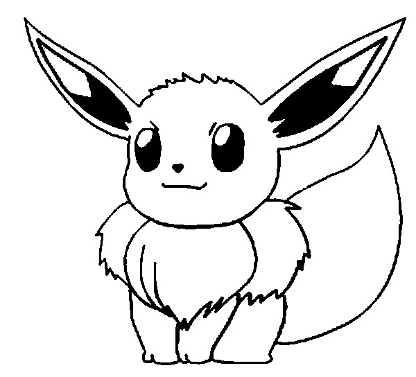 Coloriage Pokemon - Coloriage d'Evoli