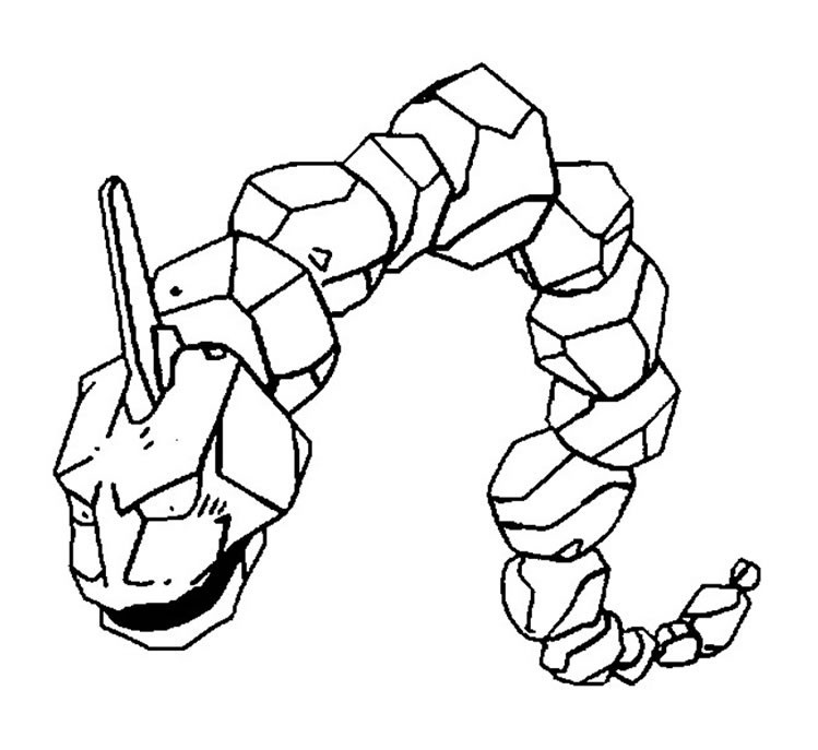 Coloriage Pokemon - Coloriage d'Onix