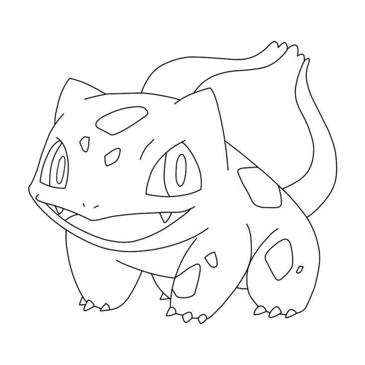 Coloriage Pokemon - Coloriage de Bulbizarre