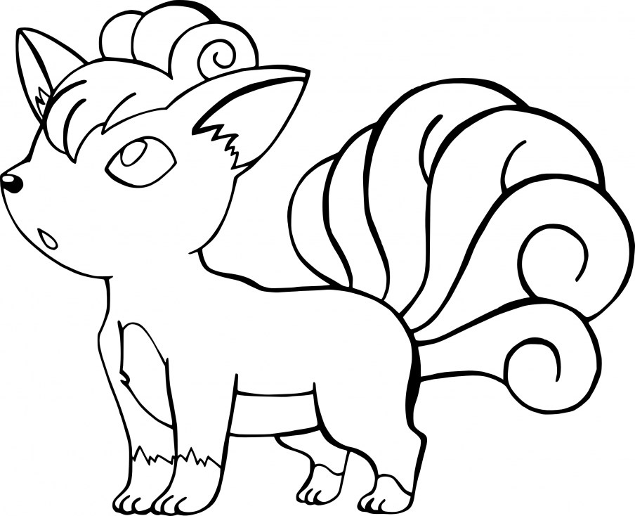 Coloriage Pokemon - Coloriage de Goupix