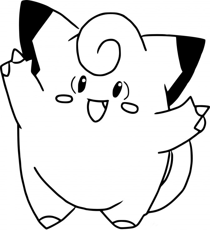 Coloriage Pokemon - Coloriage de Mélofée