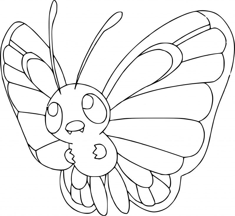 Coloriage Pokemon - Coloriage de Papillusion