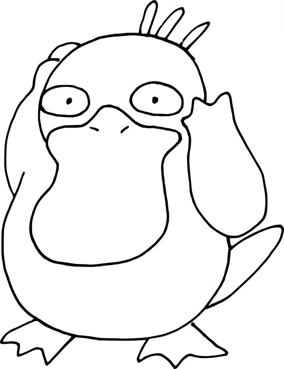 Coloriage Pokemon - Coloriage de Psykokwak