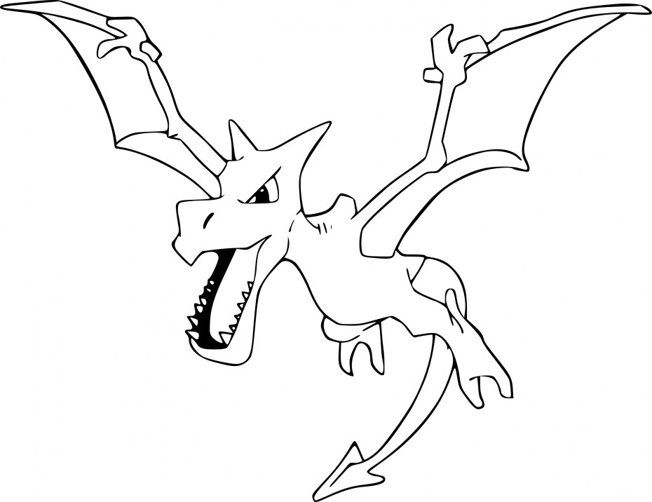 Coloriage Pokemon - Coloriage de Ptera