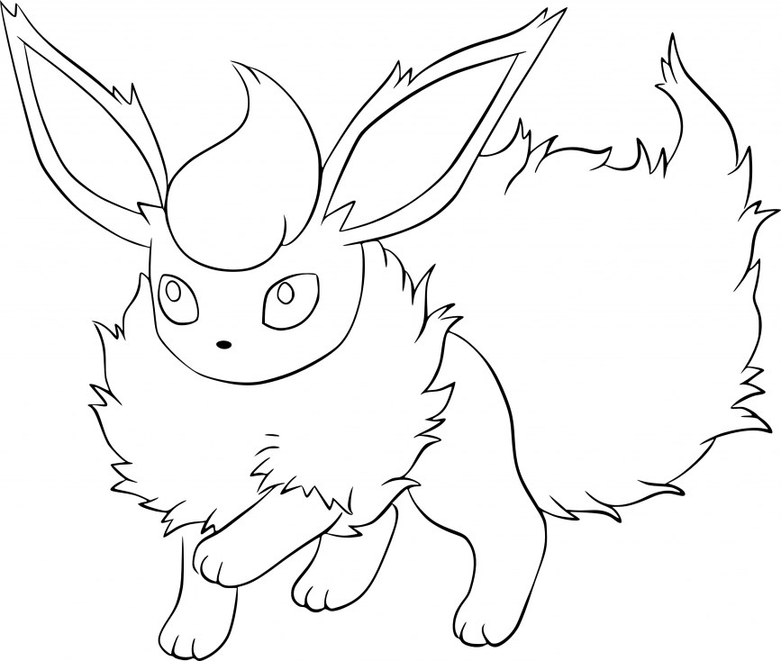 Coloriage Pokemon - Coloriage de Pyroli