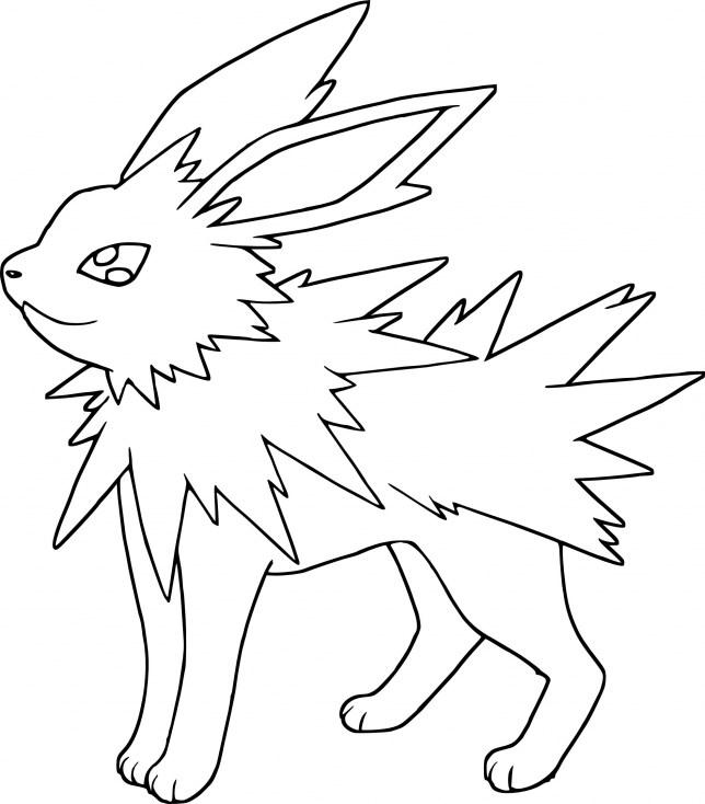 Coloriage Pokemon - Coloriage de Voltali