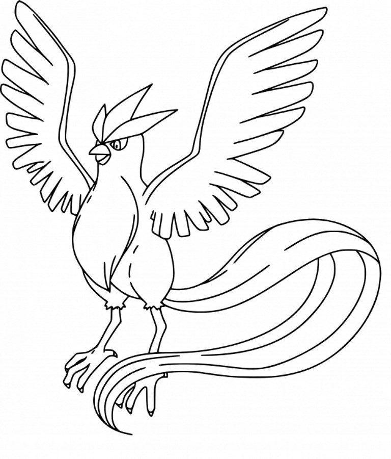 Coloriage Pokemon legendaire - Coloriage d'Artikodin