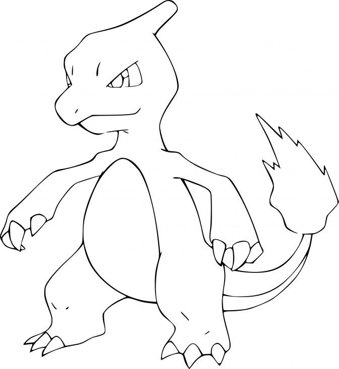 Dessin Pokemon à imprimer - Coloriage de Reptincel