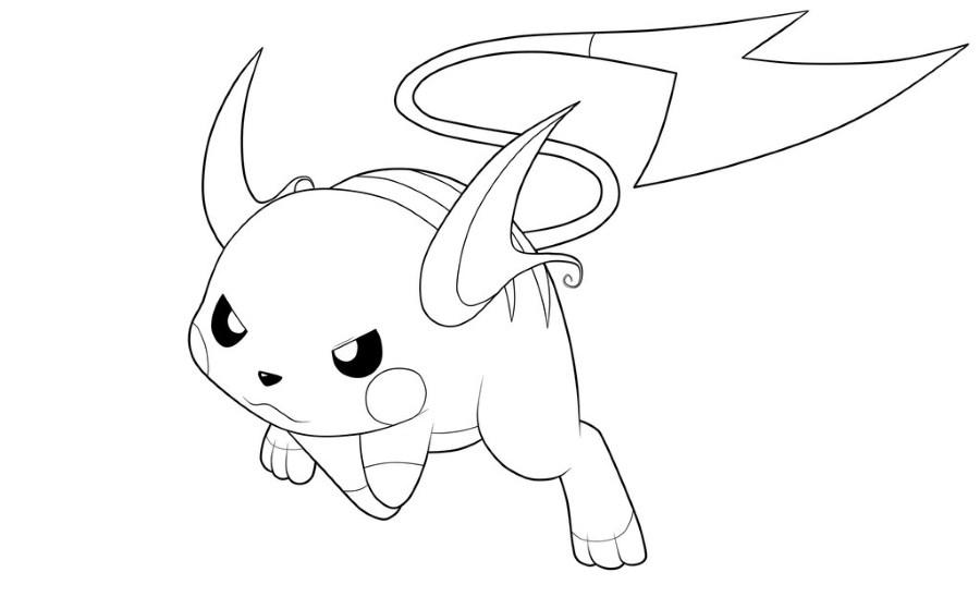Dessin Pokemon - Raichu