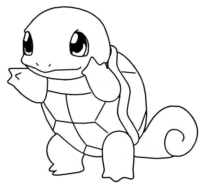 Pokemon à colorier - Carapuce