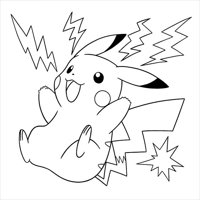 Coloriage pokemon dessins de pikachu sacha bulbizarre for Picachu coloring pages