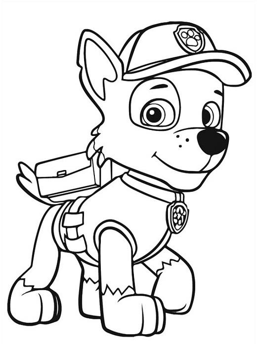 Coloriage et dessin Pat Patrouille - Coloriage Rocky
