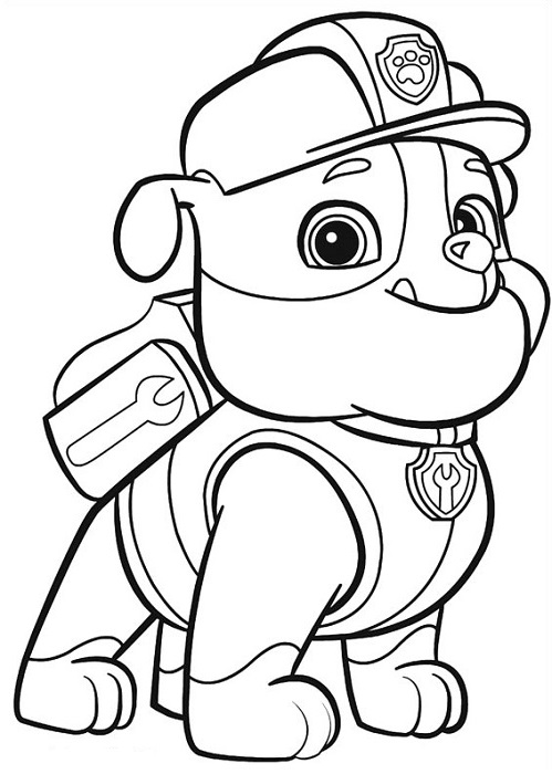 coloriage et dessins pat patrouille ou paw patrol. Black Bedroom Furniture Sets. Home Design Ideas