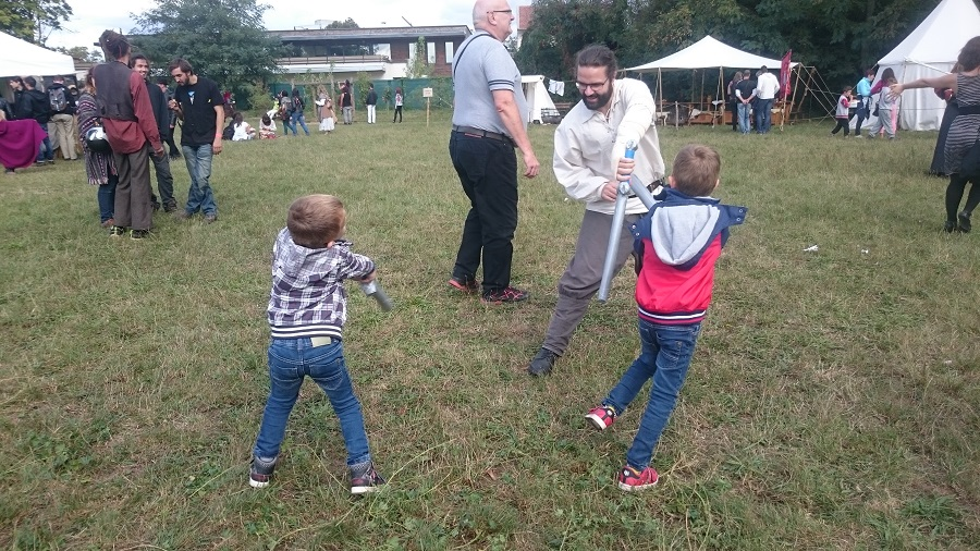 Festival Yggdrasil Lyon - Entrainement combat à l'épée