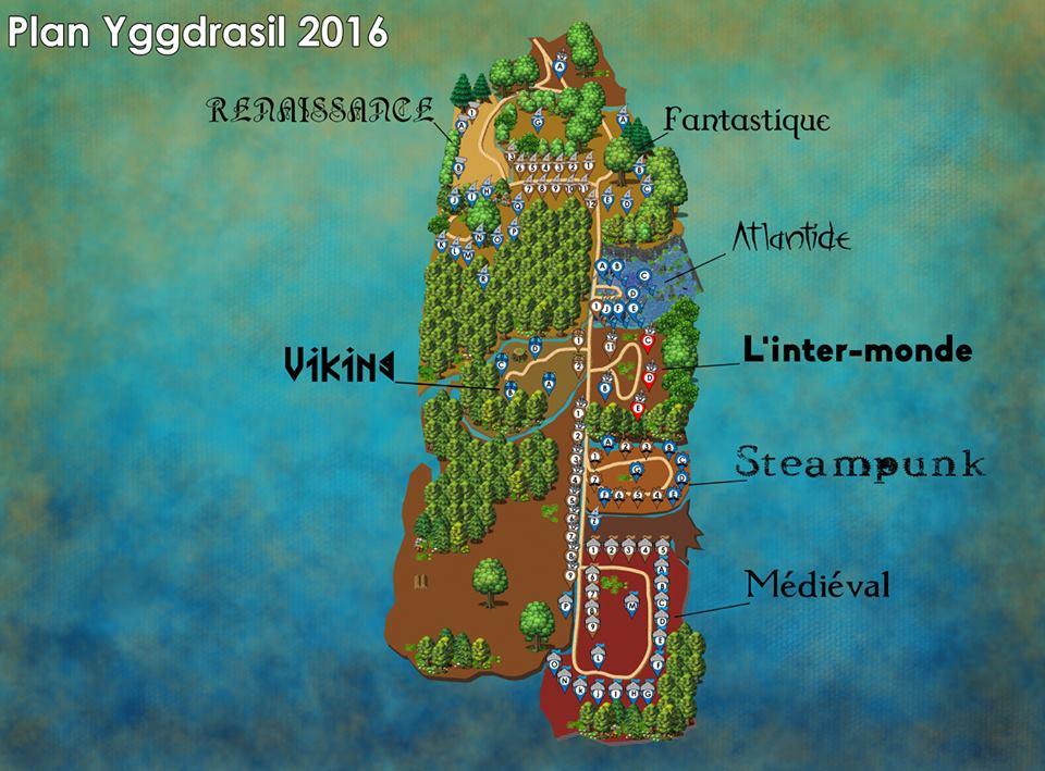 Festival Yggdrasil Lyon - Plan du festival