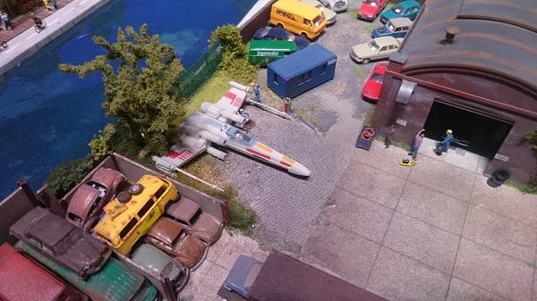 Miniworld à Lyon - Découverte, visite et avis - Les petits détails - Vaisseau Star Wars
