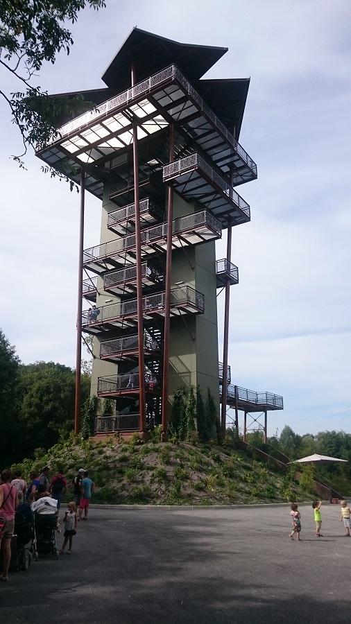 Parc aux oiseaux Villars Les Dombes - découverte avis et visite - La tour panoramique 2 -LA nouveauté 2016