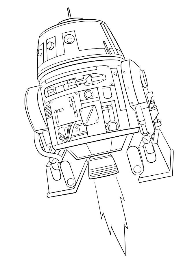 Coloriage et dessins Star Wars Rebels - Chopper 2