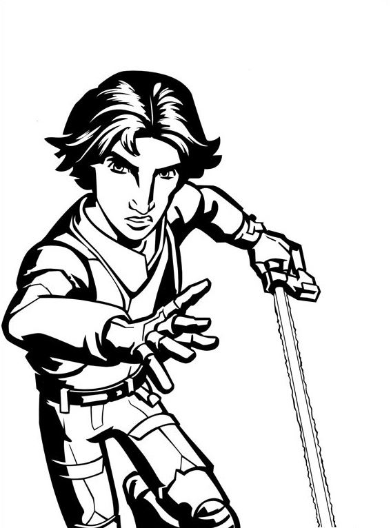 Coloriage et dessins Star Wars Rebels - Coloriage d'Ezra 2