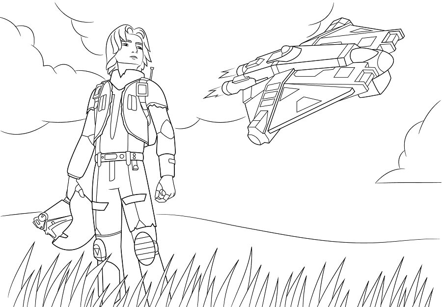 Coloriage et dessins Star Wars Rebels - Coloriage d'Ezra Bridger