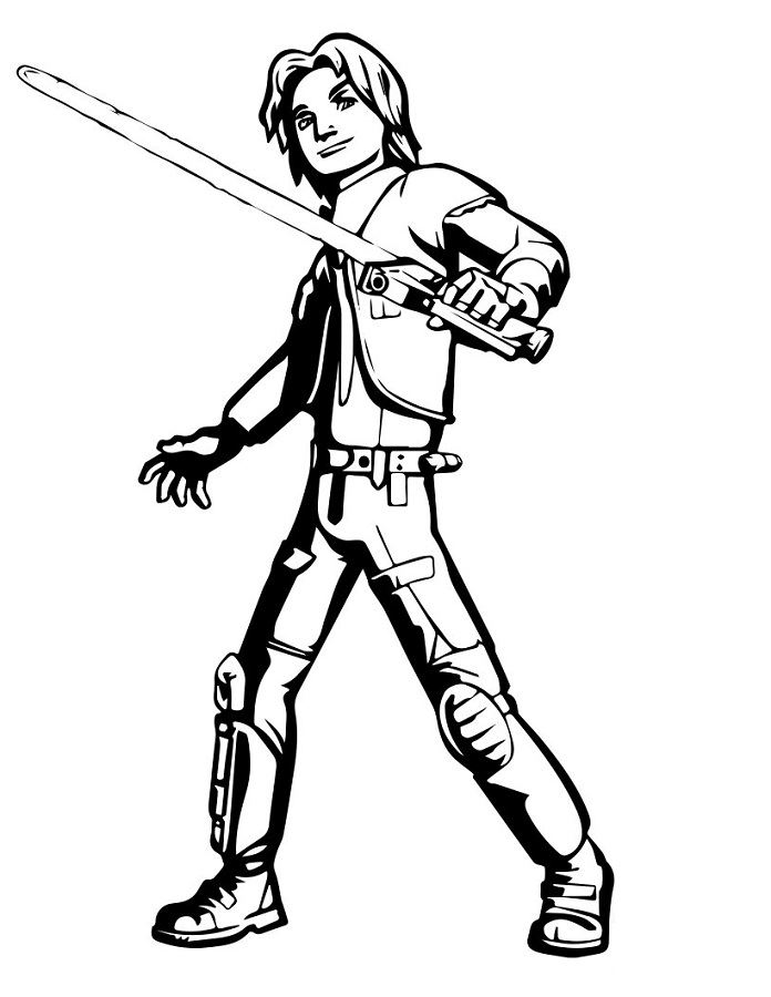 Coloriage et dessins Star Wars Rebels - Coloriage d'Ezra