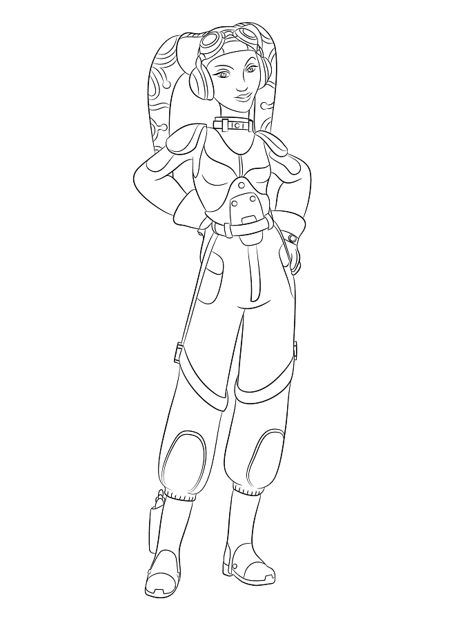 Coloriage et dessins Star Wars Rebels - Coloriage d'Hera Syndulla