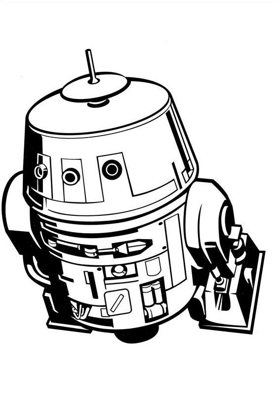 Coloriage et dessins Star Wars Rebels - Coloriage de Chopper