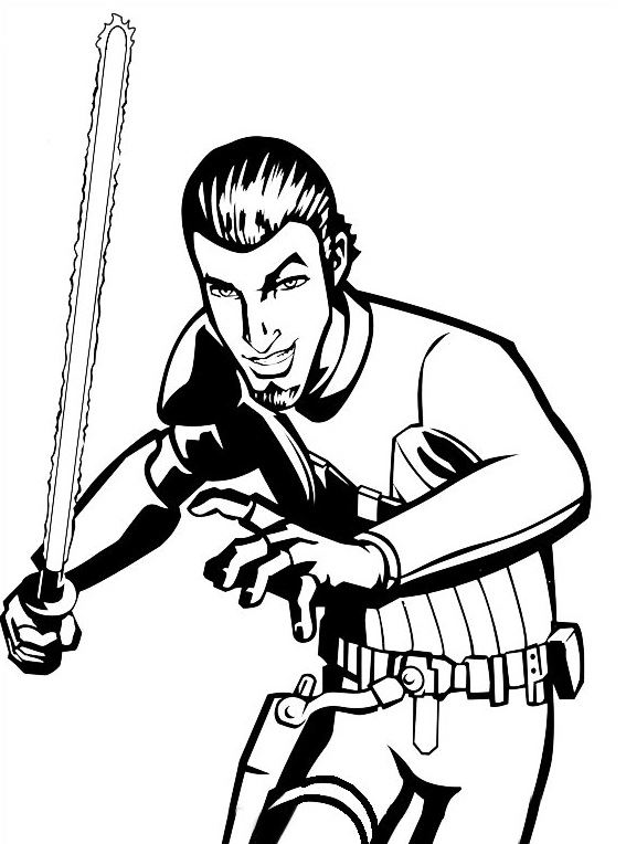 Coloriage et dessins Star Wars Rebels - Coloriage de Kanan 2