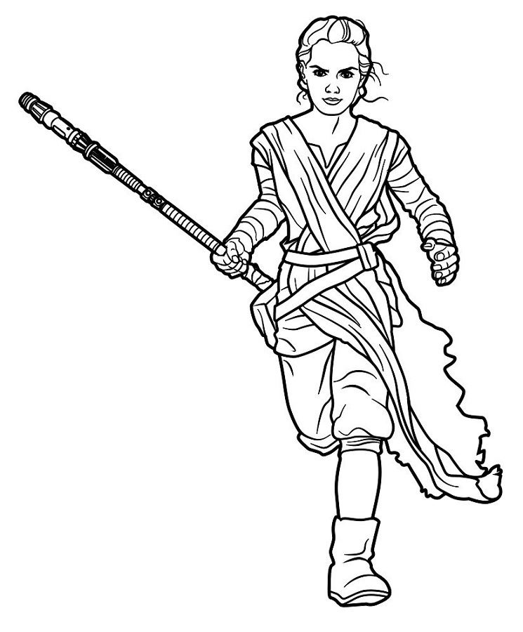 Coloriage et dessins Star Wars Rebels - Coloriage de Rey