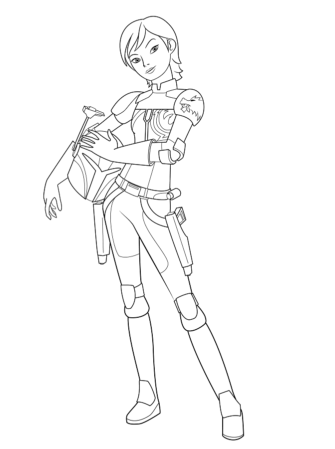 Coloriage et dessins Star Wars Rebels - Coloriage de Sabine Wren