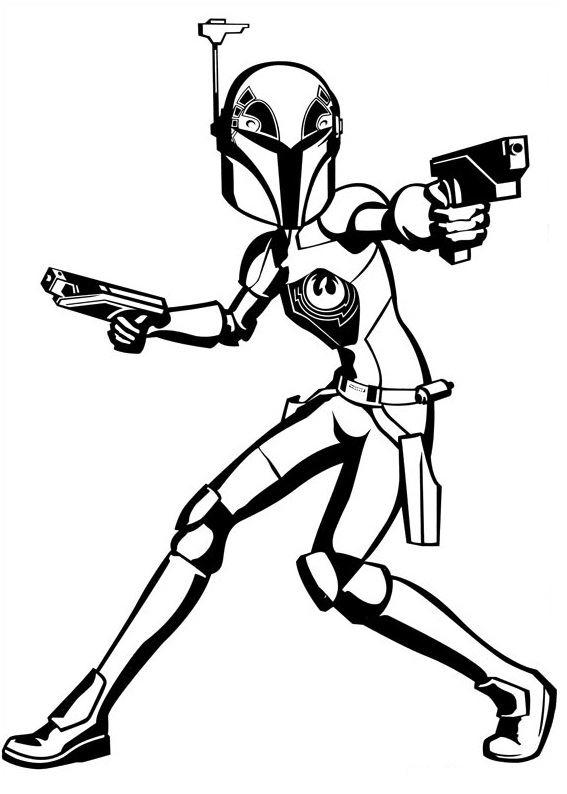 Coloriage et dessins Star Wars Rebels - Dessin à colorier de Sabine