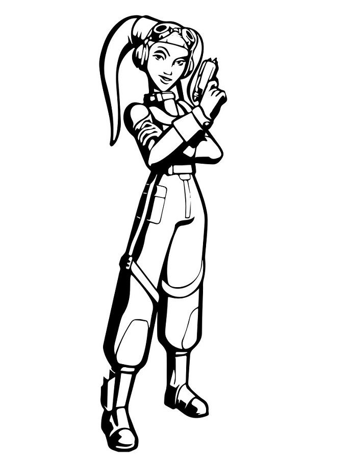 Coloriage et dessins Star Wars Rebels - Dessin à colorier d'Hera