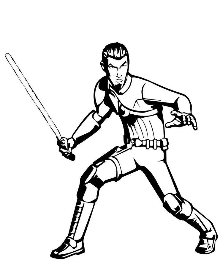 Coloriage et dessins Star Wars Rebels - Dessin de Kanan