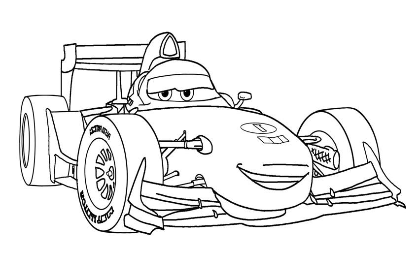 Coloriages Cars et dessins Cars 2 - Coloriage de Francesco Bernoulli