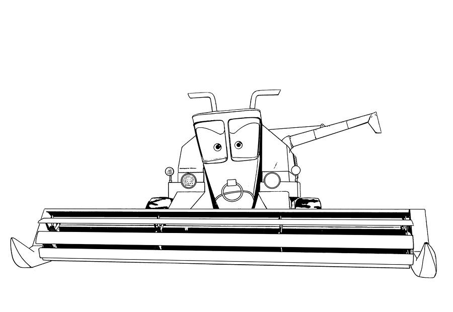 Coloriages Cars et dessins Cars 2 -Coloriage de Franck la moissonneuse