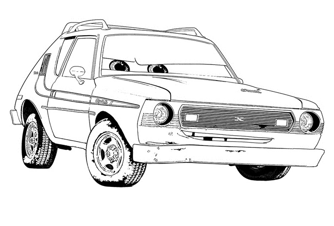Coloriages Cars et dessins Cars 2 -Coloriage de Grem