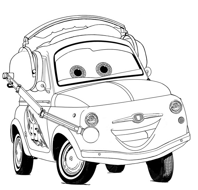 Coloriages Cars et dessins Cars 2 -Coloriage de Luigi