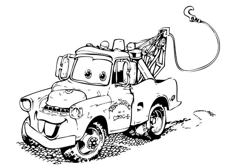 Coloriages Cars et dessins Cars 2 - Coloriage de Martin la dépanneuse