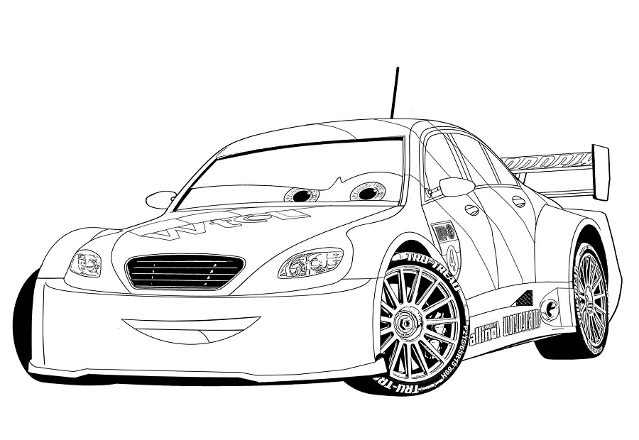 Coloriages Cars et dessins Cars 2 -Coloriage de Max Schnell