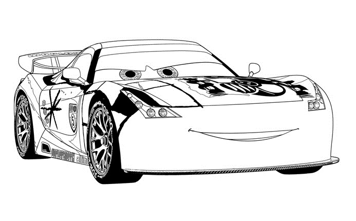 Coloriages Cars et dessins Cars 2 - Coloriage de Miguel Camino